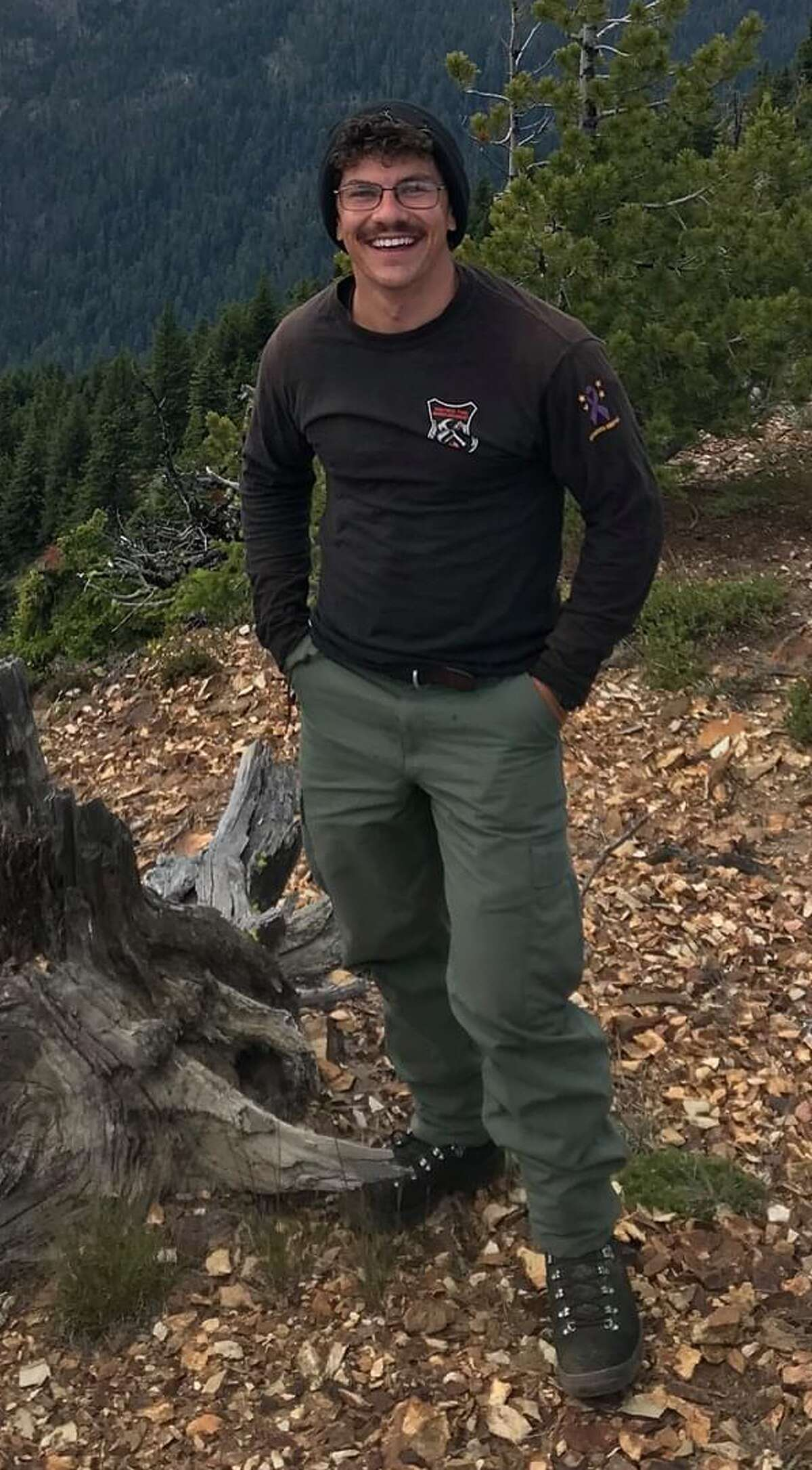 The National Parks Service is searching for Steven Grunwald, pictured. He was hiking and backpacking from Glacier Gorge Trailhead in the park at the end of August.