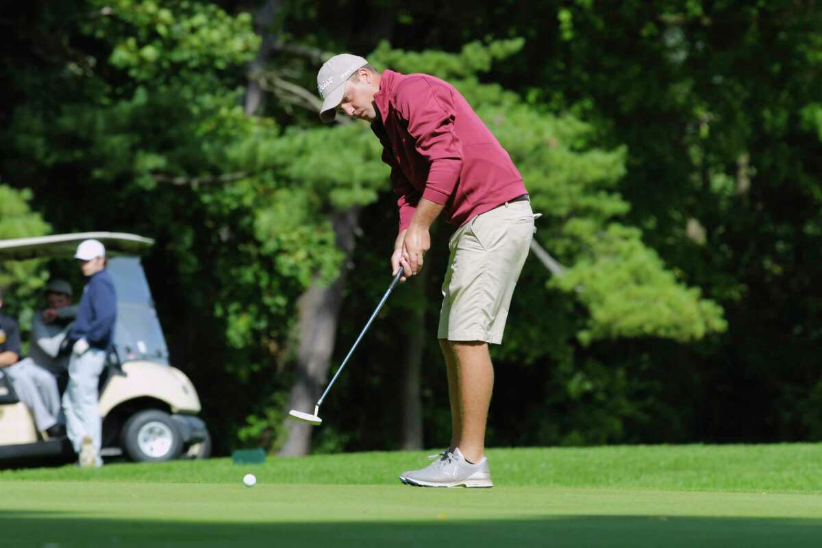 Joe Fitzsimmons putts on the 14th green during the final round of the Schenectady Classic golf tournament at the Schenectady Municipal Golf Course on Sunday, Sept. 13, 2020, in Schenectady, N.Y. (Paul Buckowski/Times Union)