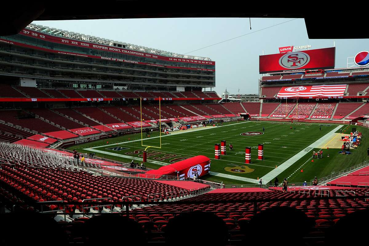 Games at Levi's Stadium in Santa Clara County, shown in September, are banned under the new coronavirus restrictions.