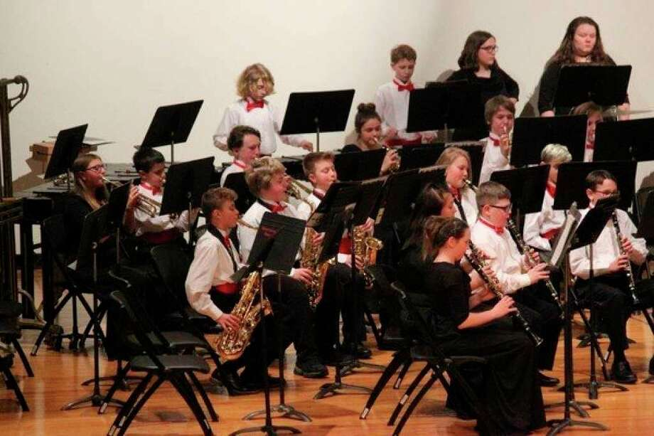 Members of Benzie Central School's seventh and eighth grade band perform in a previous holiday concert. (File Photo)