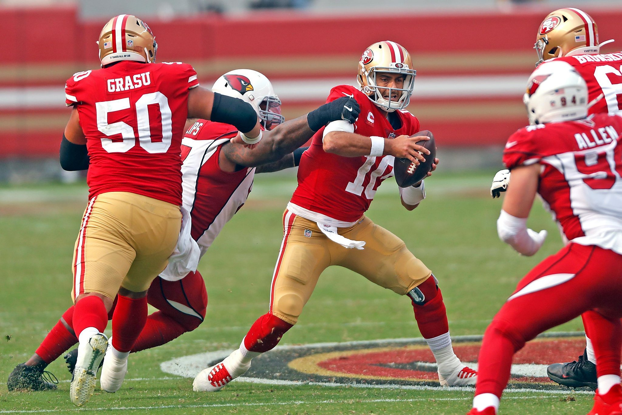 Where can 49ers' JImmy Garoppolo improve? 'Being decisive, getting the ball out on time'