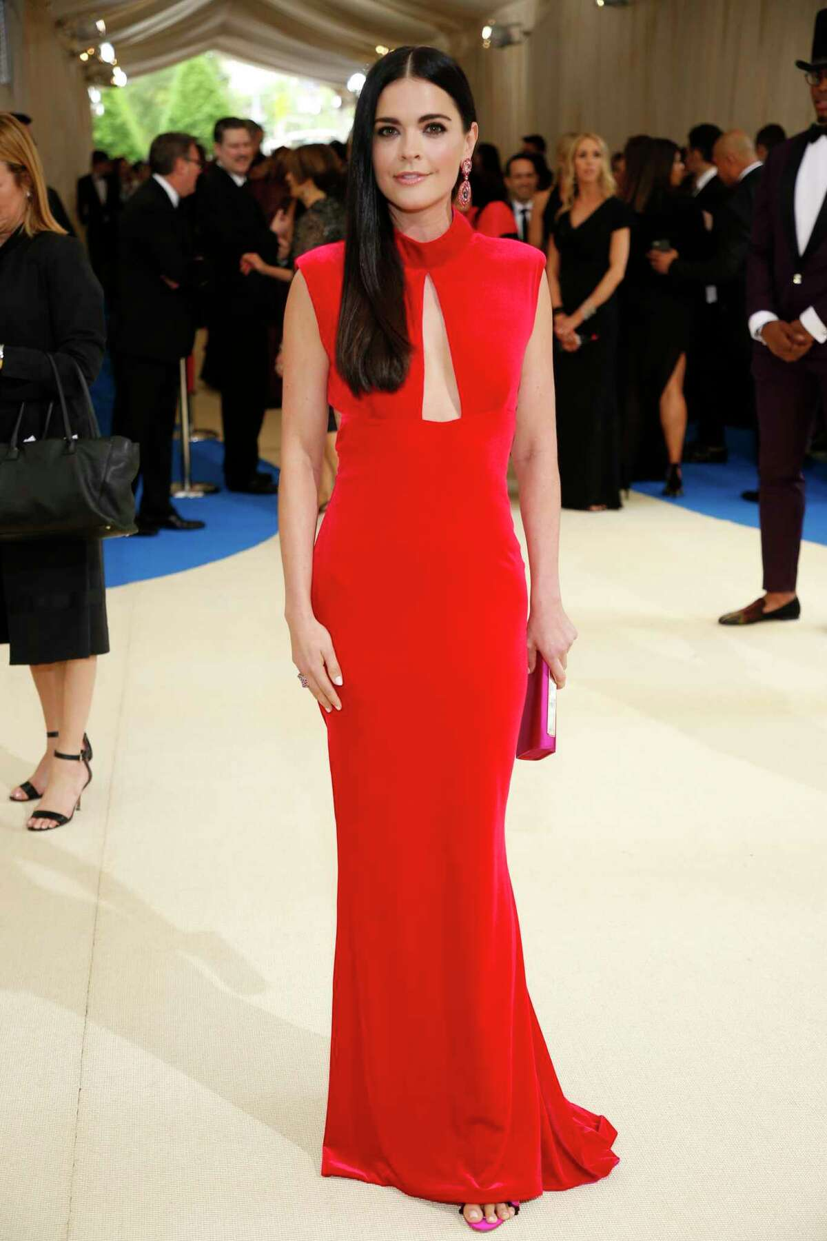 Katie Lee arrives at the Costume Institute Gala at the Metropolitan Museum of Art in New York, May 1, 2017. (Benjamin Norman/The New York Times) ORG XMIT: XNYT213