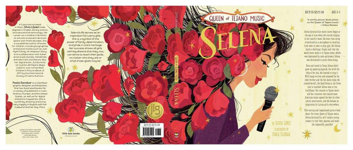 """""""Queen of Tejano Music: Selena"""" by Silvia Lopez, with illustrations by Paola Escobar"""