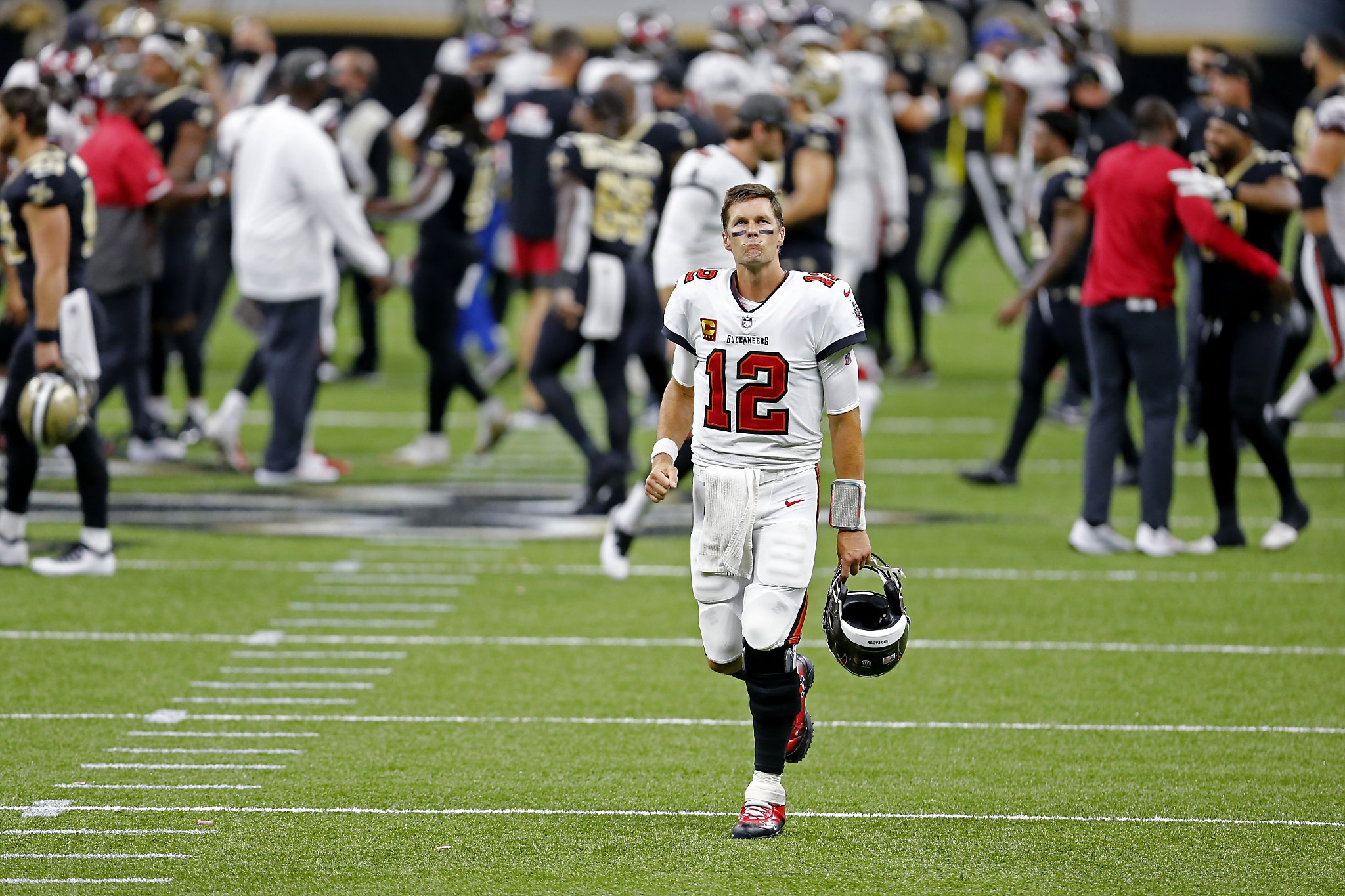 Tom Brady S Debut With Bucs A Dud In Two Interception Outing Sfchronicle Com