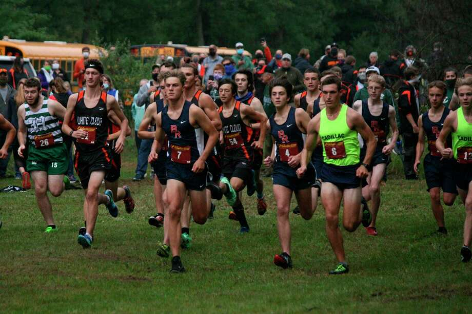 Big Rapids boys cross country runners get off to the start of Saturday's North Woods Invitational. (Courtesy photo)