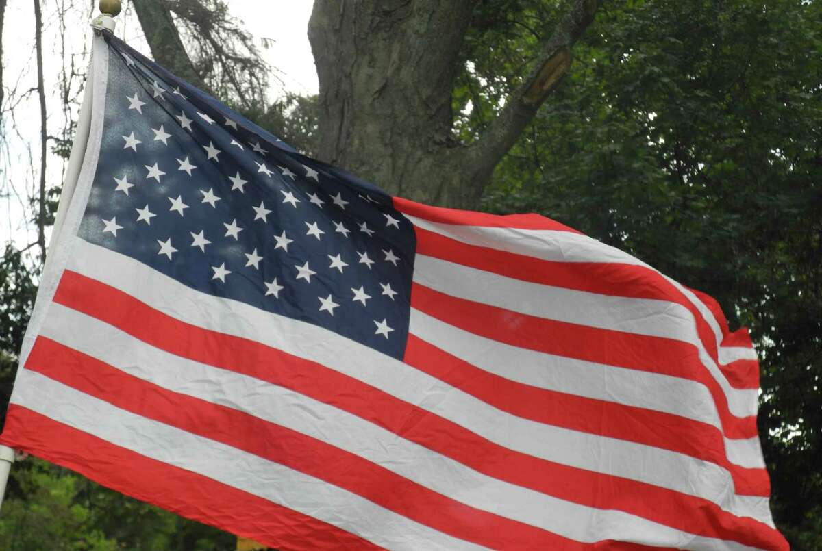 The American flag .
