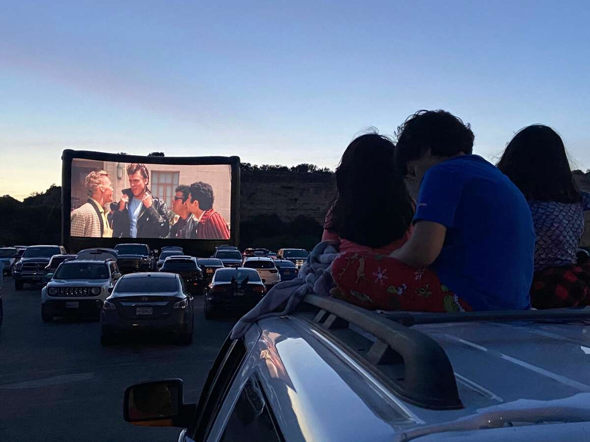 The New York Times on Tuesday included a photo of the pop-up drive-in at Six Flags Fiesta Texas in its annual