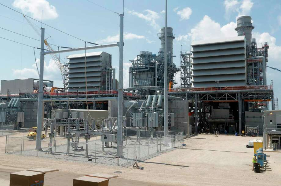 Construction continues on Entergy Texas' $937 million power plant in Willis. The plant, which will produce 993-megawatts of power, is expect to be completed by May 2021. Photo: Jason Fochtman, Houston Chronicle / Staff Photographer / 2020 © Houston Chronicle