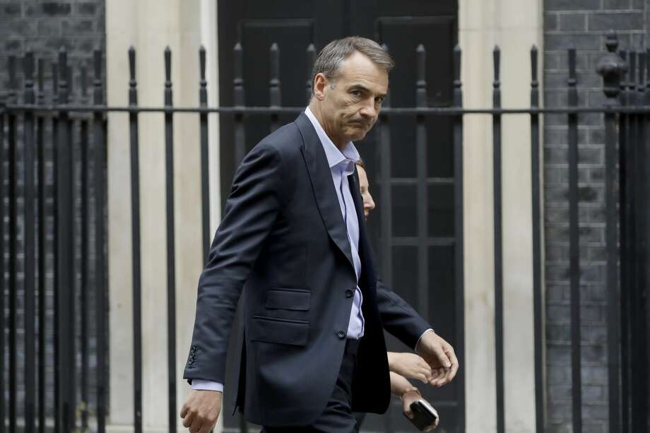 Bernard Looney the CEO of oil and gas company BP walks into 10 Downing Street in London, Friday, Sept. 11, 2020. (AP Photo/Matt Dunham) Photo: Matt Dunham/Associated Press / Copyright 2020 The Associated Press. All rights reserved