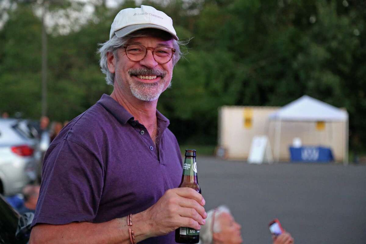 Robert Ross of New Canaan enjoys the music at the Terrapin concert from the Supper & Soul series at the Imperial Lot on Friday, Sept. 11, 2020, in Westport, Conn.