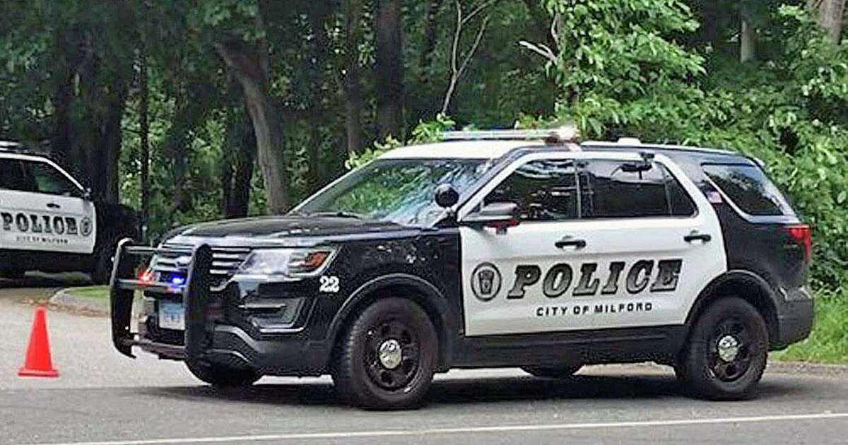 File photo of a Milford, Conn., police cruiser during an investigation, taken on June 13, 2017.