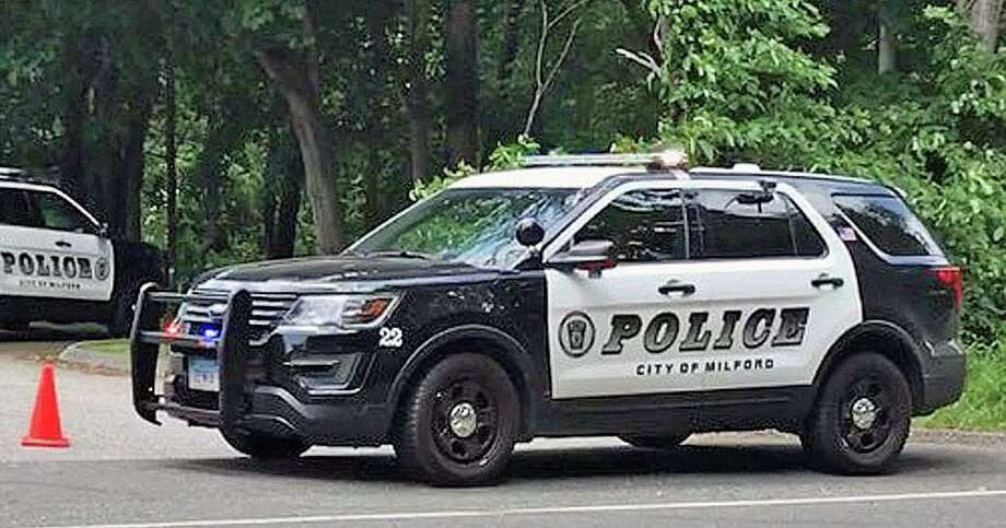 File photo of a Milford, Conn., police cruiser during an investigation, taken on June 13, 2017. Photo: Hearst Connecticut Media / Tara O'Neill / Hearst Connecticut Media / Connecticut Post