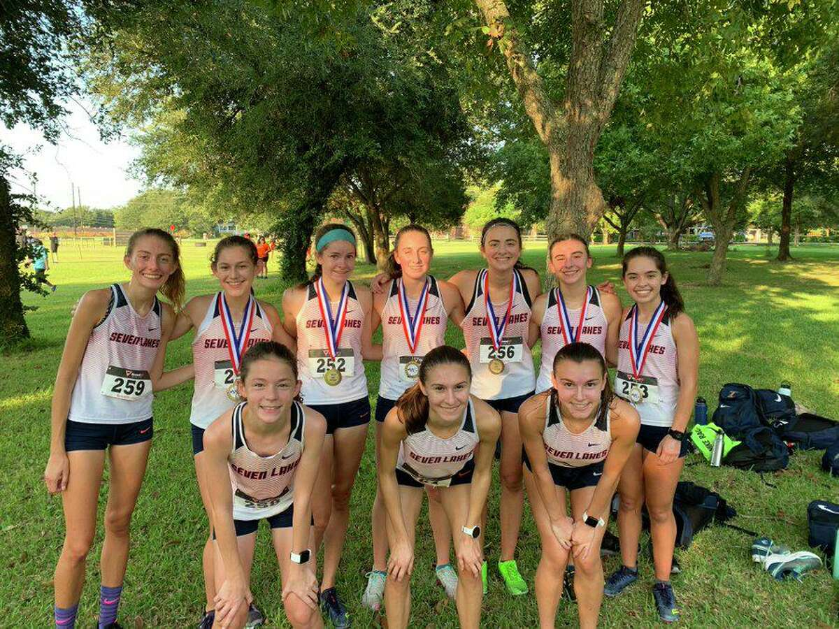 The Seven Lakes girls cross country team won the team championship in their division Sept. 12 at the Dawson Early Bird meet in Pearland.