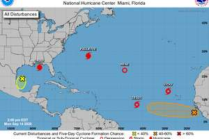 There are five named storms and two disturbances in the Atlantic hurricane forecast zone as of Monday, Sept. 14, 2020.