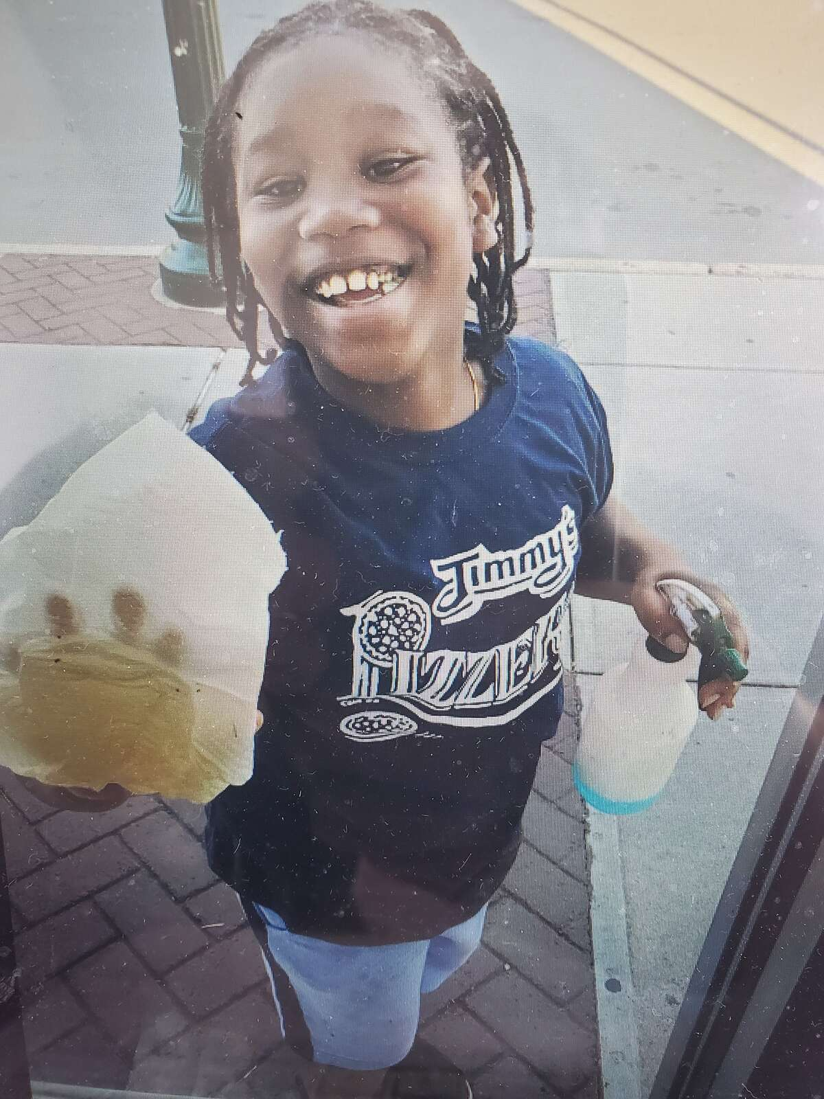 Ayshawn Davis, 11, was shot and killed in a drive-by shooting in Troy late Sunday, Sept. 14, 2020. This photograph was taken by Tony Buchanan, owner of Jimmy's Pizzeria and Restaurant, where the child did odd jobs for him like cleaning the dining room and washing windows.
