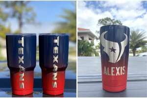 Houston Texans Yeti cups sold by  Unique Tumblers .