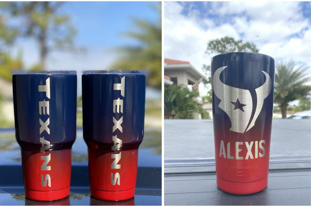 Houston Texans Yeti cups sold by Unique Tumbler.
