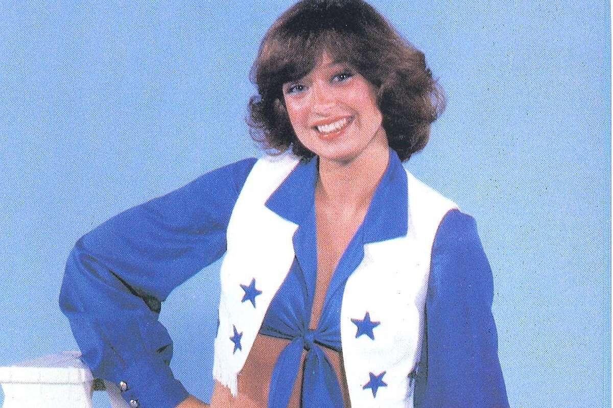 Kim Kilway as a Dallas Cowboys cheerleader.