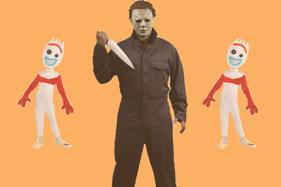 Child Forky Costume, $29.99Adult Michael Myers Costume, $54.99 Photo: Party City/Hearst Newspapers