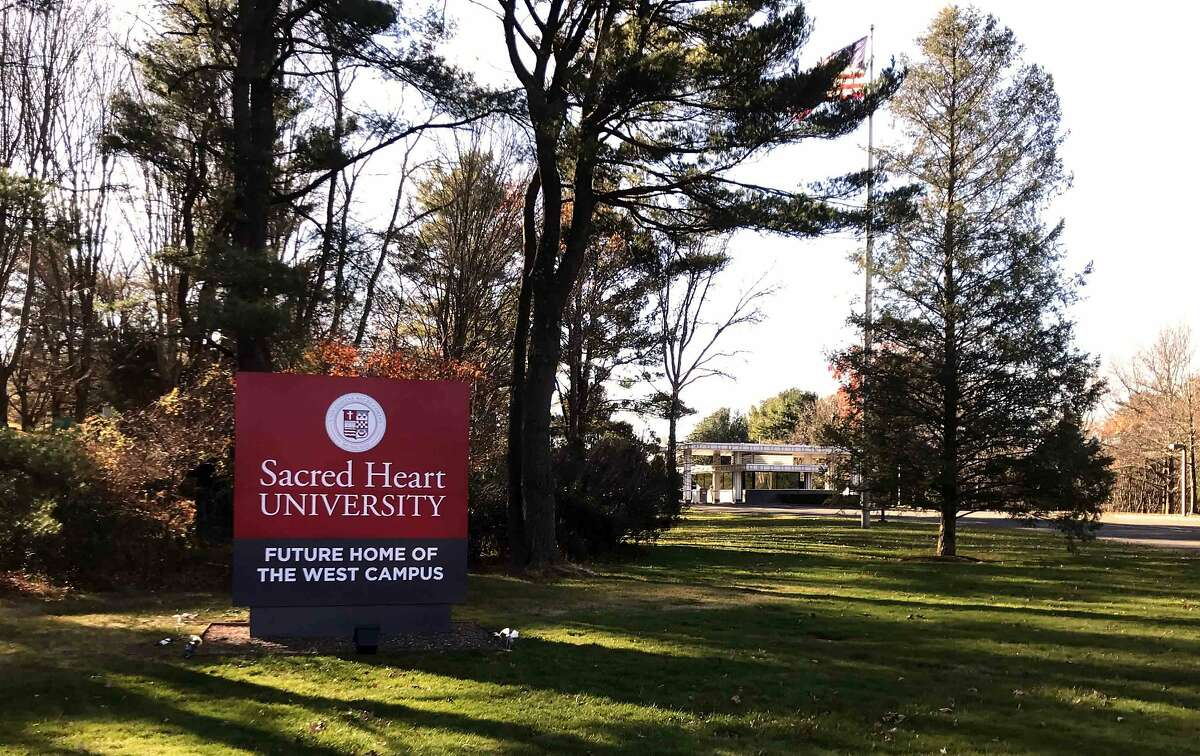 A Sacred Heart University sign photographed in 2016.