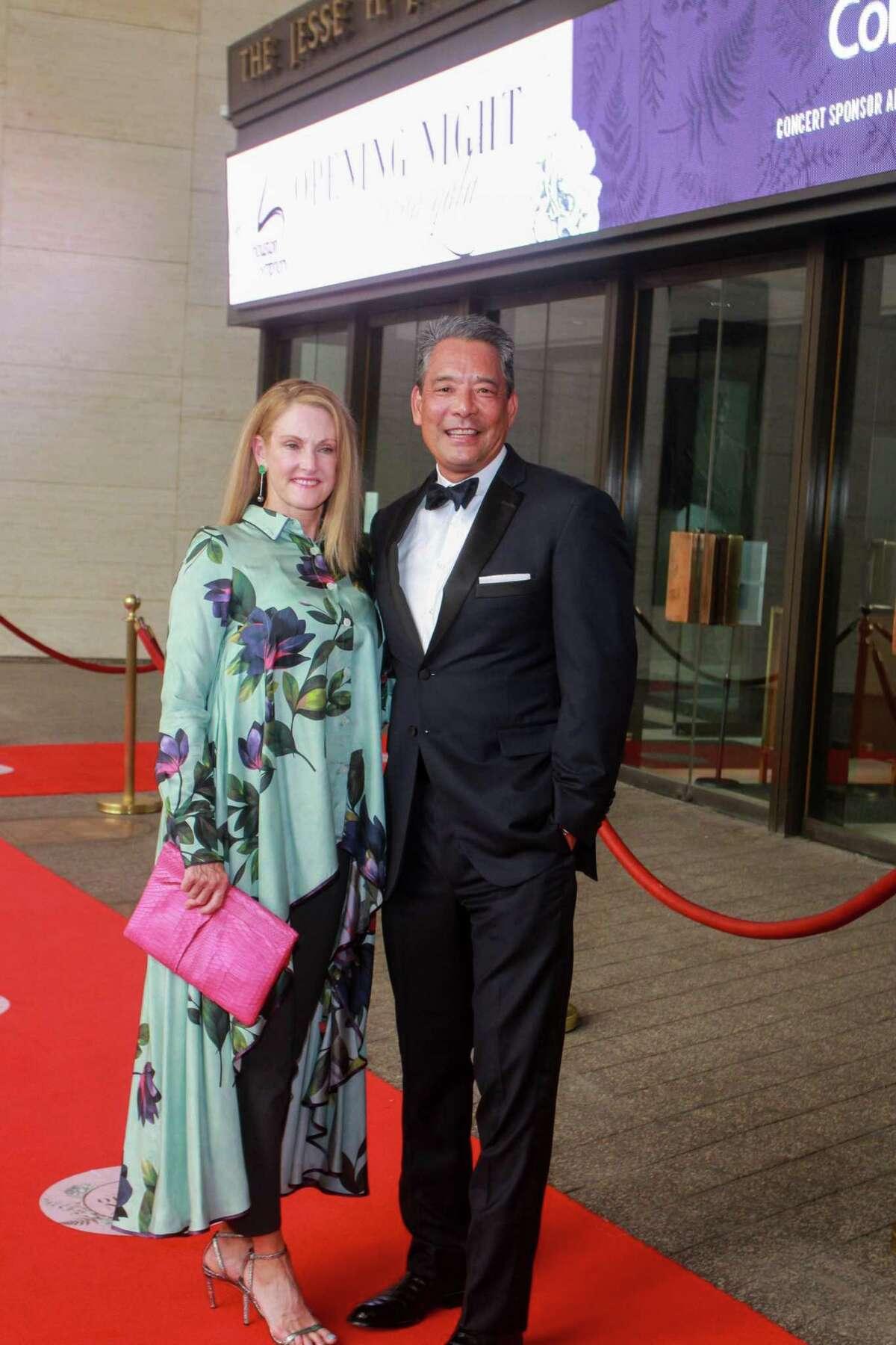 Stephanie and Frank Tsuru at Houston Symphony's opening night on September 12, 2020.