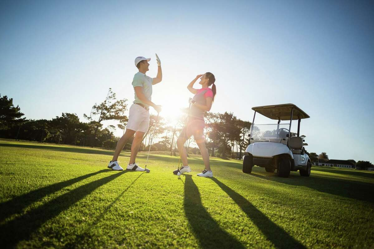 Micke Grove Golf Links offers a 6,565-yard links-style golf course.