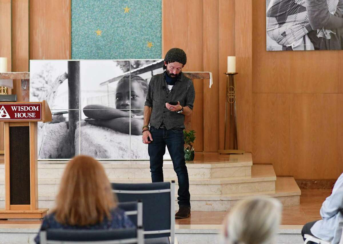 Wisdom House welcomed photographer Lee Cantelon, above, Saturday for an exhibition and talk on his photographs of women and children of Nigeria,