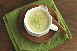 Roasted Apple-Parsnip Soup (recipe in column): Apples blend well and add a subtle sweetness that pairs nicely with parsnips.