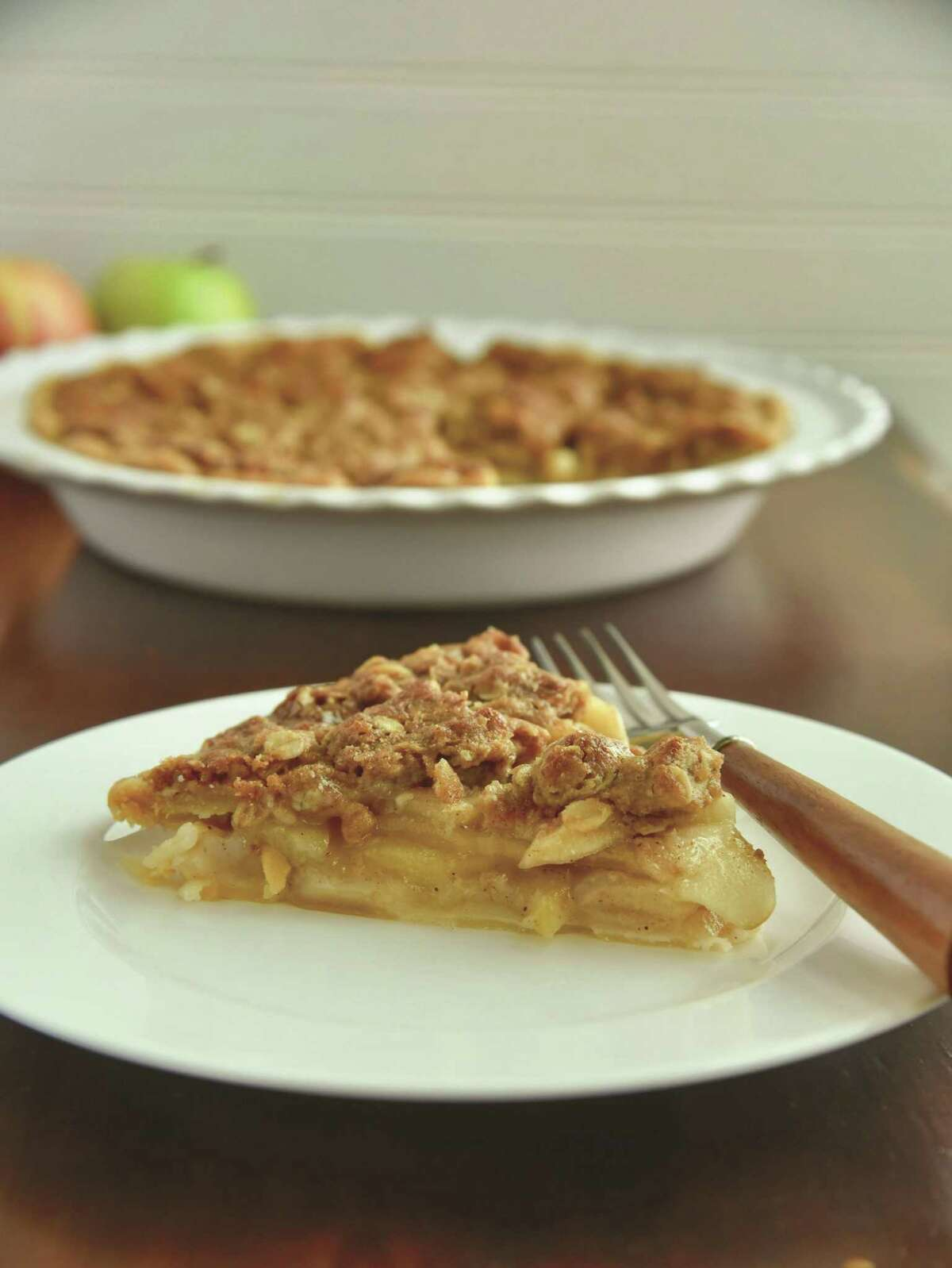 Dutch Apple Crumble Pie (recipe mentioned in column and on my website): This pie features a streusel topping that will remind you of spiced oatmeal or a soft granola cereal.