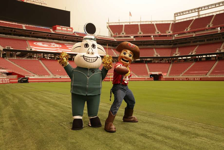 A photo of 49ers mascot Sourdough Sam at Levi's Stadium from Sept. 2020. Photo: Courtesy Of @49ers