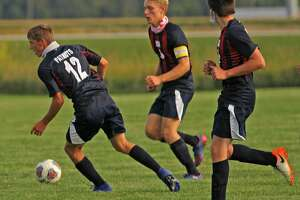 The Unionville-Sebewaing Area boys soccer team battled the visiting Capac Chiefs to a 0-0 tie on Monday afternoon. (Mark Birdsall/Huron Daily Tribune)