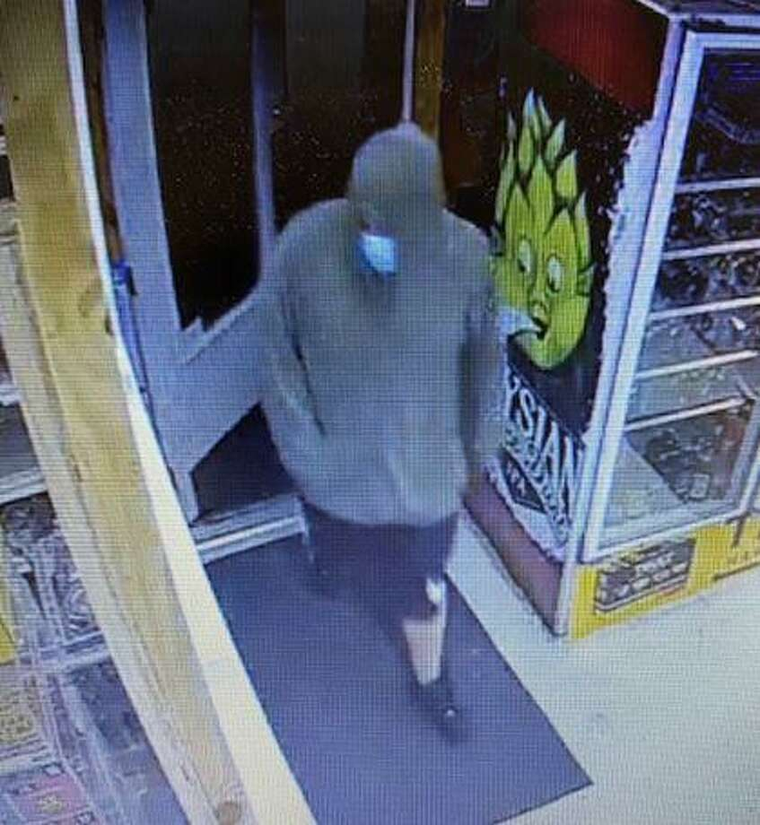 State police are asking for the public's help identifying this man believed to have carried out an armed robbery at the Chaplin Package Store on Willimantic Road in Chaplin Thursday, Sept. 10. Photo: Contributed /Connecticut State Police