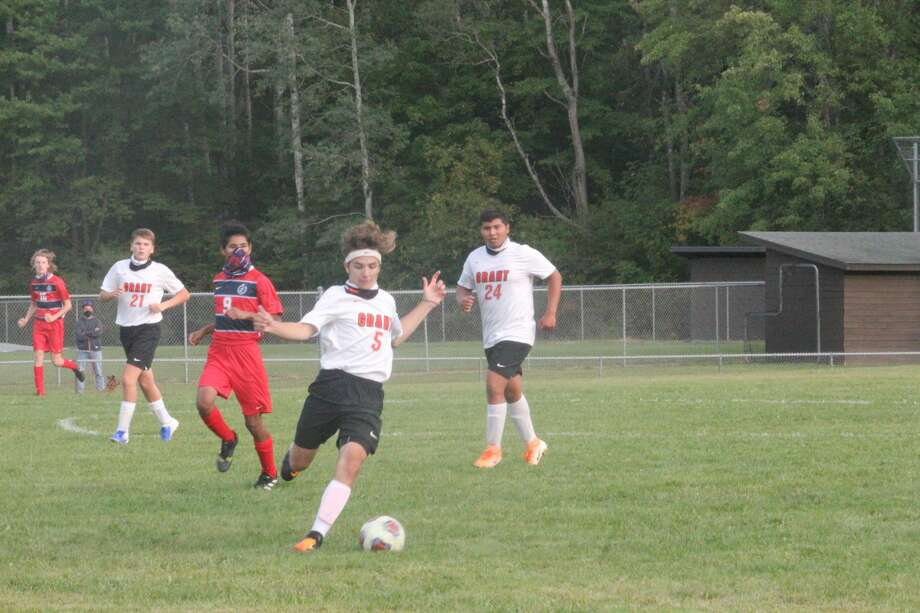 Big Rapids soccer team was too much for Grant in Monday's 6-1 win. Photo: John Raffel