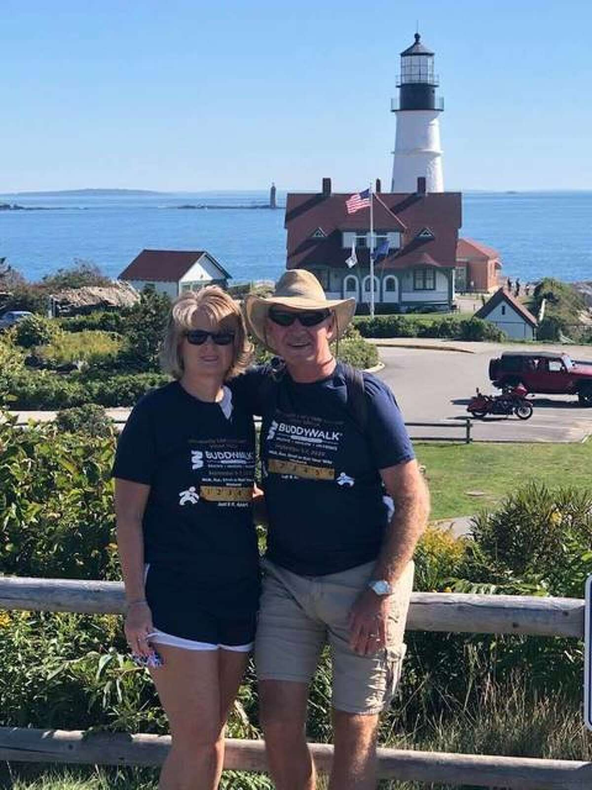 Pat and Linda Timmermann took their virtual Buddy Walk all the way up to Maine.