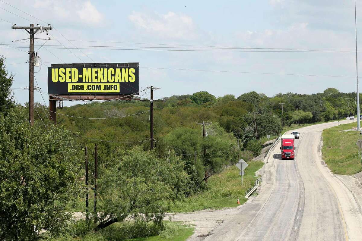 A billboard ad just north of a truck stop at the York Creek exit off Interstate 35 in Comal County was removed Monday afternoon by the company that owns the billboard, the New Braunfels city manager said in a statement.