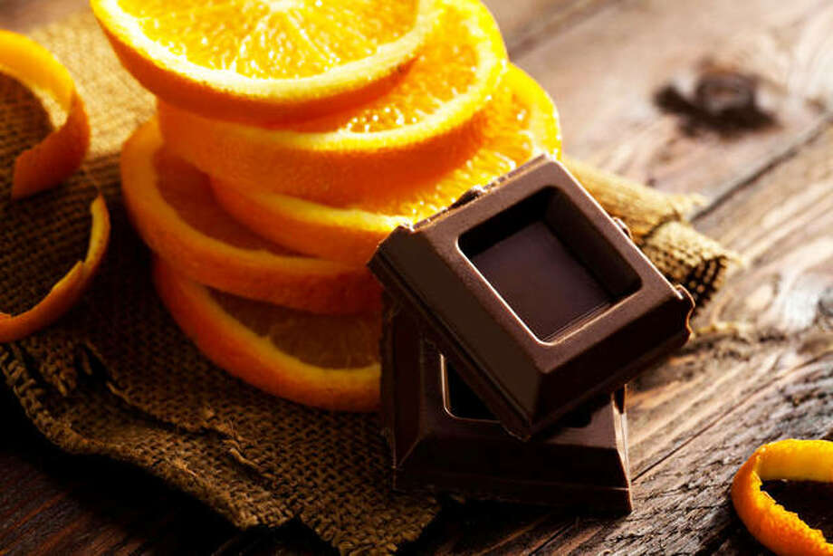 Orange combined with dark chocolate and yogurt creates a sweet dessert. Photo: For The Telegraph