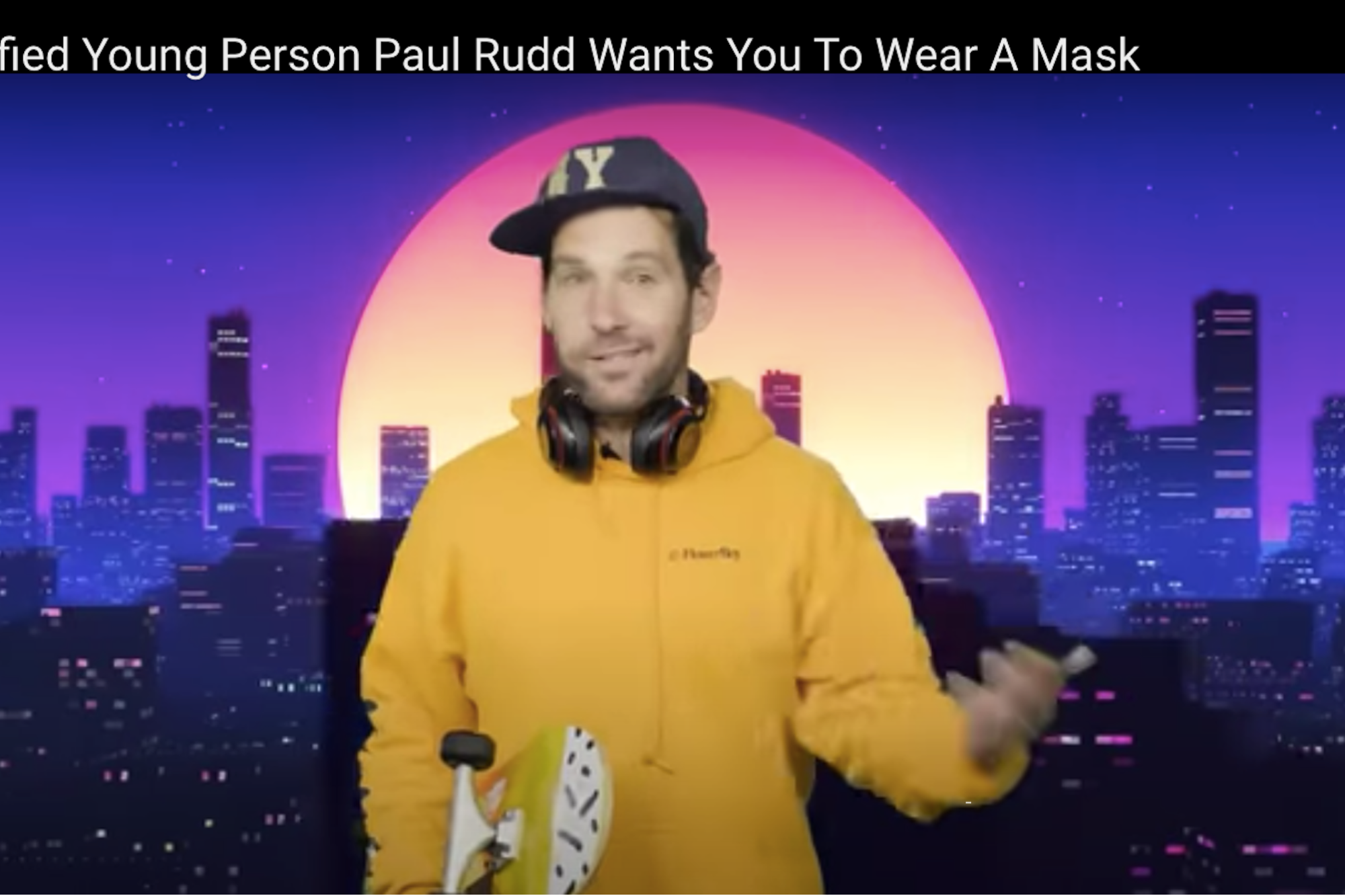 Watch Certified Young Person Paul Rudd S Message About Masks