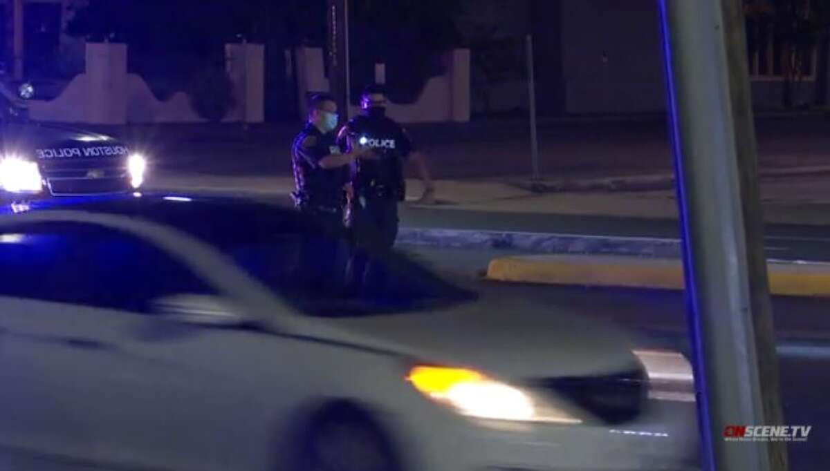 Police investigate a fatal hit and run in west Houston on Monday, Sept. 14, 2020.
