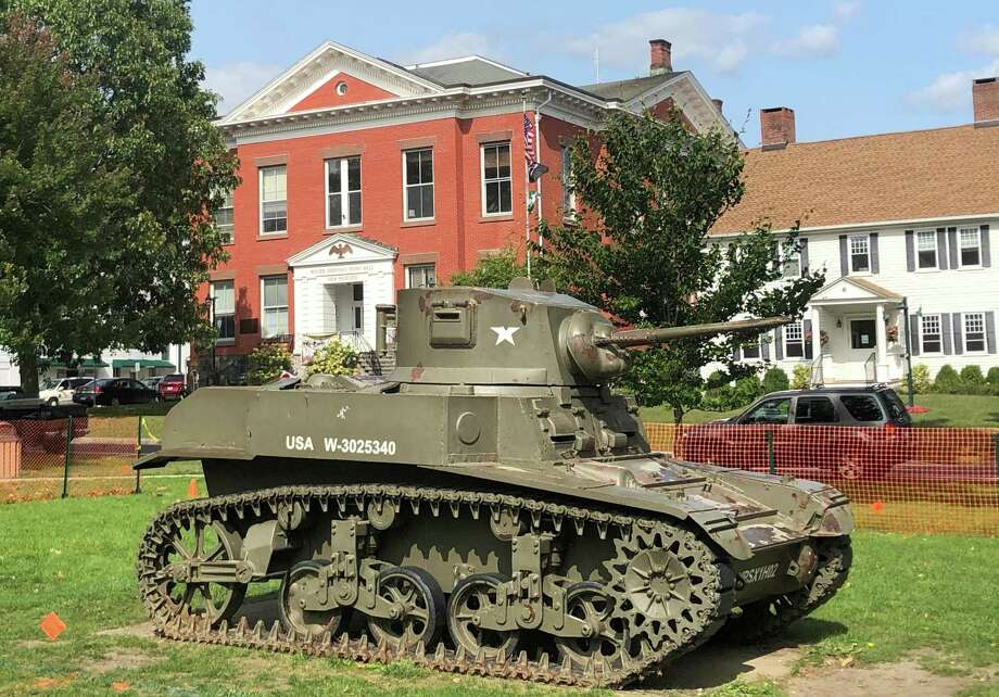 The tank has been a landmark on the Village Green since the 1940s. Photo: Deborah Rose /Hearst Connecticut Media / Danbury News Times