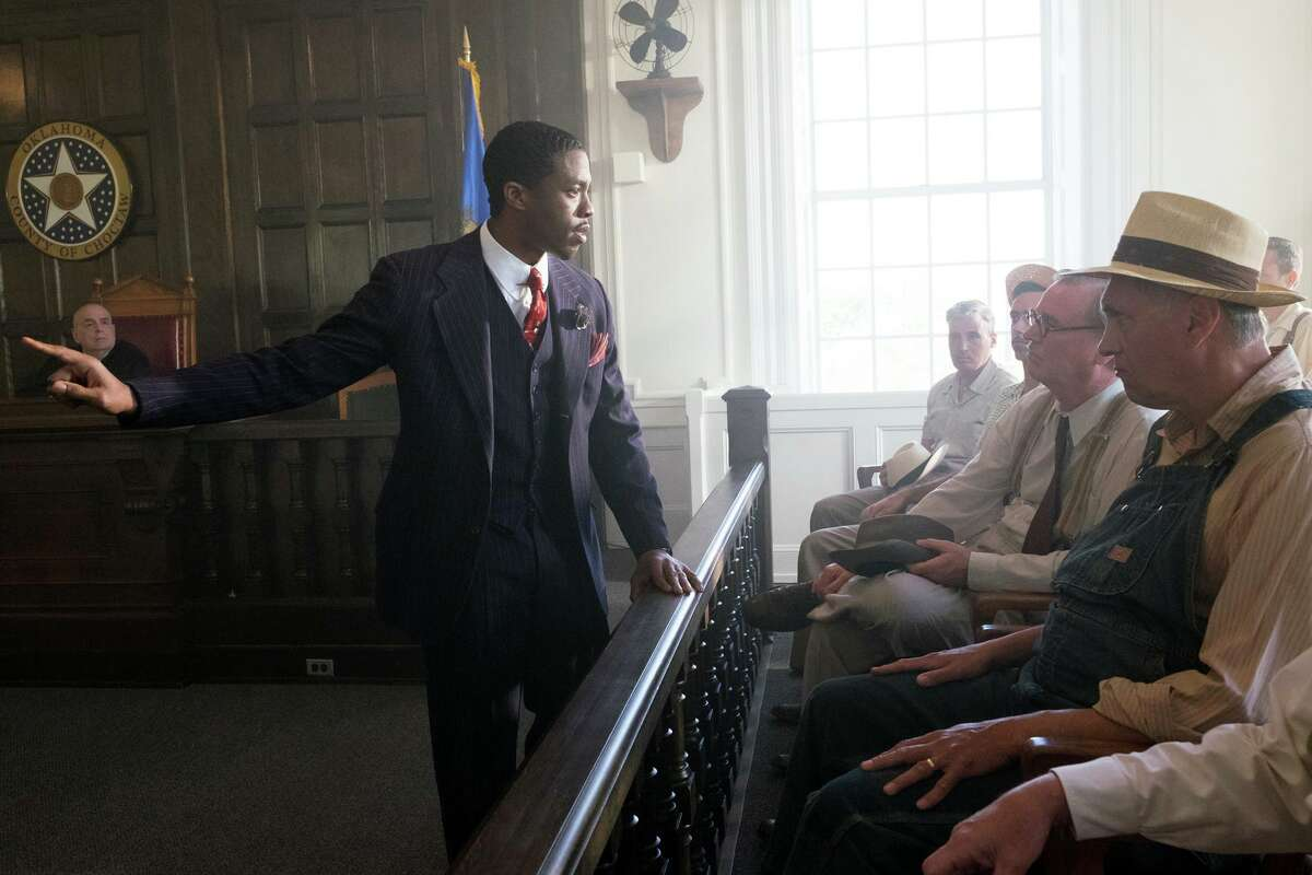 Chadwick Boseman stars as Thurgood Marshall, who traveled around the country on behalf of the NAACP early in his career. Michael Koskoff of Westport is the screenwriter of the film which was released Oct. 13, 2017.