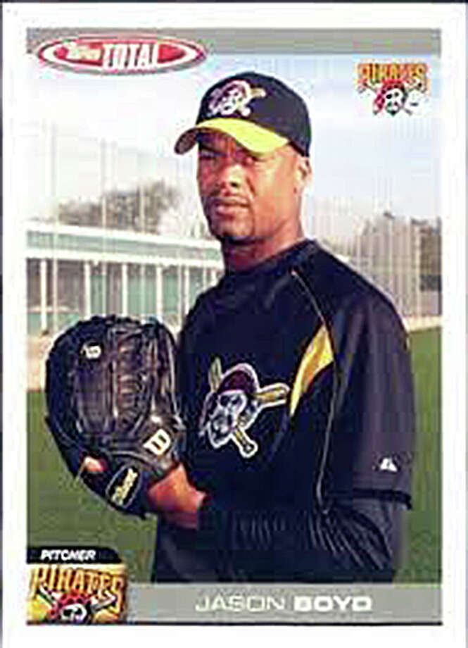 A baseball card of Edwardsville graduate Jason Boyd from his time with the Pittsburgh. Boyd pitched the Pirates in 1999 and again in 2004. Photo: For The Intelligencer
