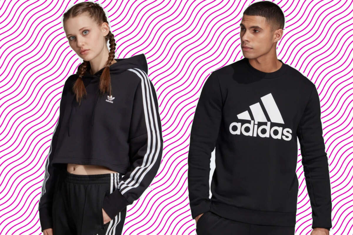 Save 25% on fleece hoodies, tack suits, and sweats, Adidas - use promo code FLEECE
