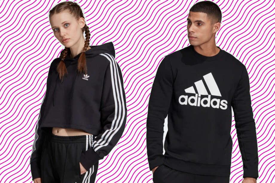 Save 25% on fleece hoodies, tack suits, and sweats, Adidas – use promo code FLEECE Photo: Adidas/Hearst Newspapers