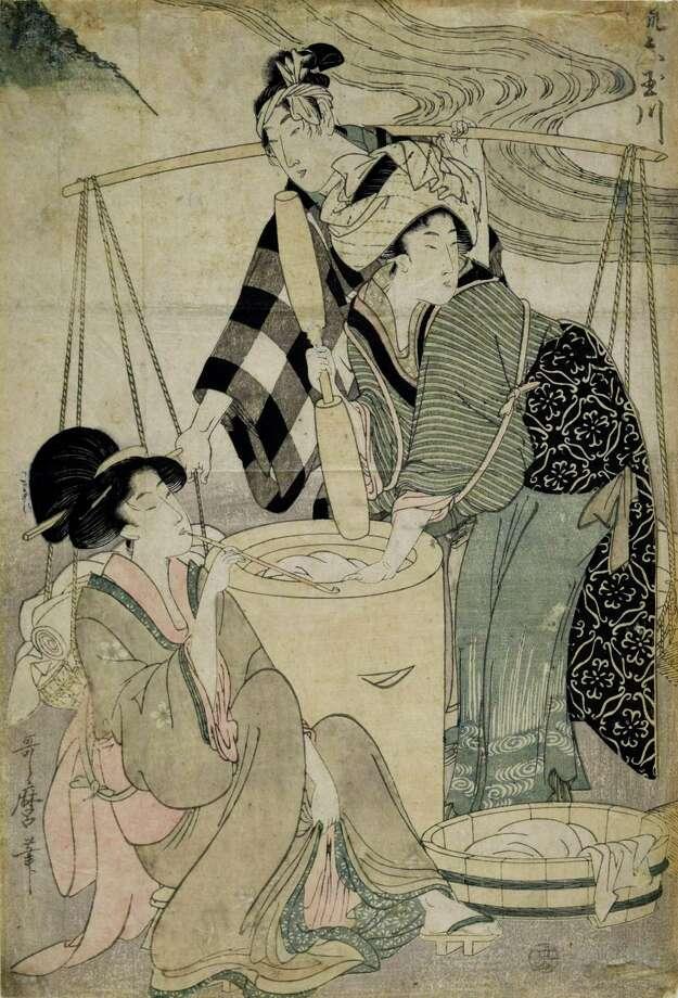 "Kitagawa Utamaro (Japanese, 1753-1806) Mutamagawa, will be included in the Bruce Museum's ""Floating Beauty"" exhibit. Photo: Reading Public Museum / Contributed Photo"