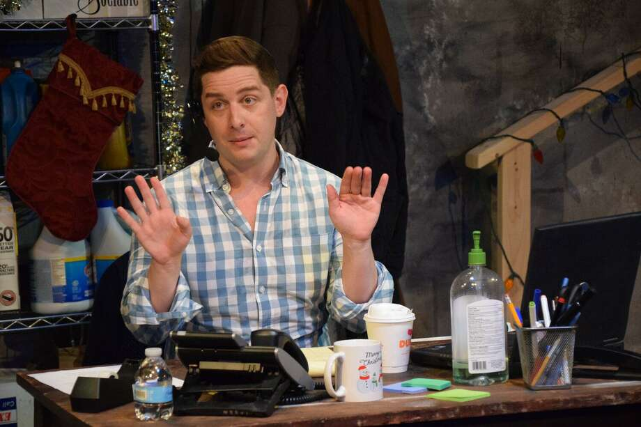 "Matt Densky stars in the Music Theatre of Connecticut's performance of ""Fully Committed"" running through Sept. 27. Photo: Alex Mongillo / Contributed Photo"