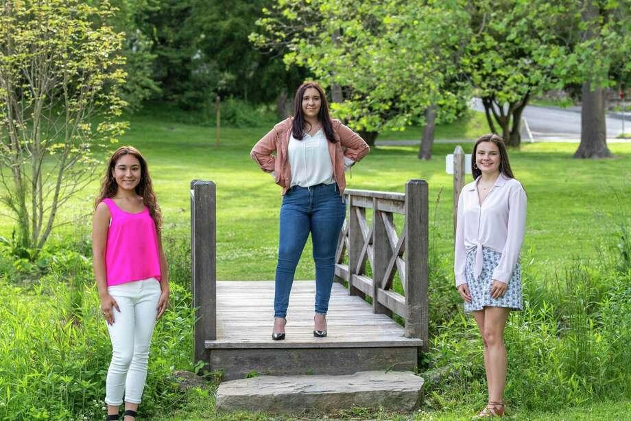 LiveGirls Stephanie Guza, AzizaBenbouchaib, Phoebe Kurth. Photo: LiveGirl