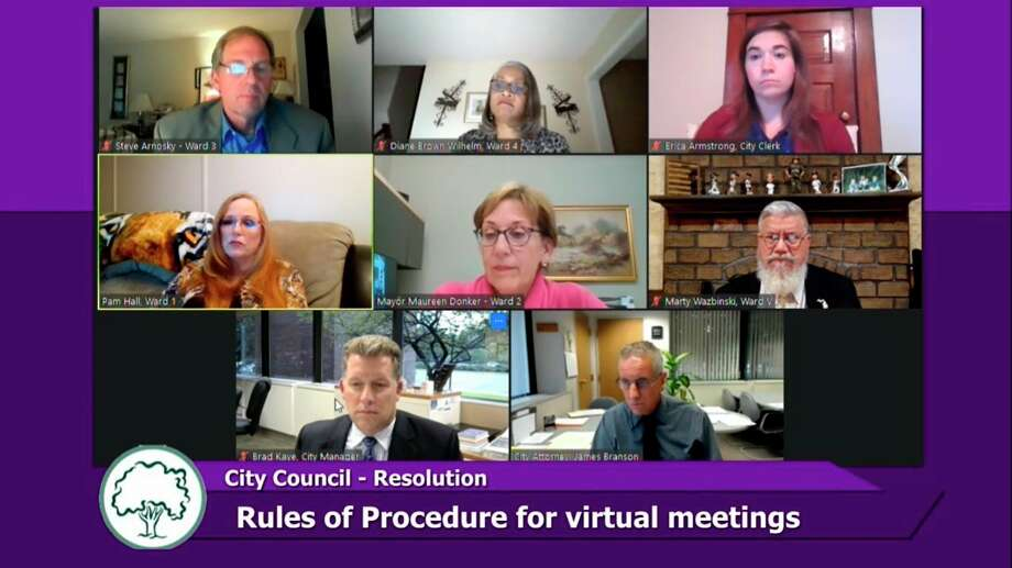 Midland City Council met virtually for their regular meeting on Monday, Sept. 14, 2020. (Screen photo/MCTV)