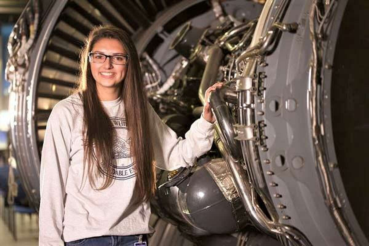 Middlesex Community College student Elizabeth Moag is a manufacturing machine technology major.