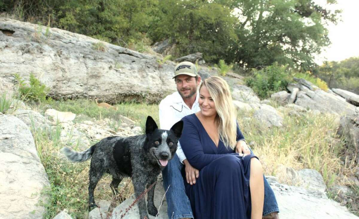 Axle the blue heeler was supposed to be spending time with his grandma in Spicewood while his owner, Leslie Robinson, went out of town with her fiance, but he clearly had other plans on his weekend agenda. (Photo courtesy of Leslie Robinson via KXAN-TV)