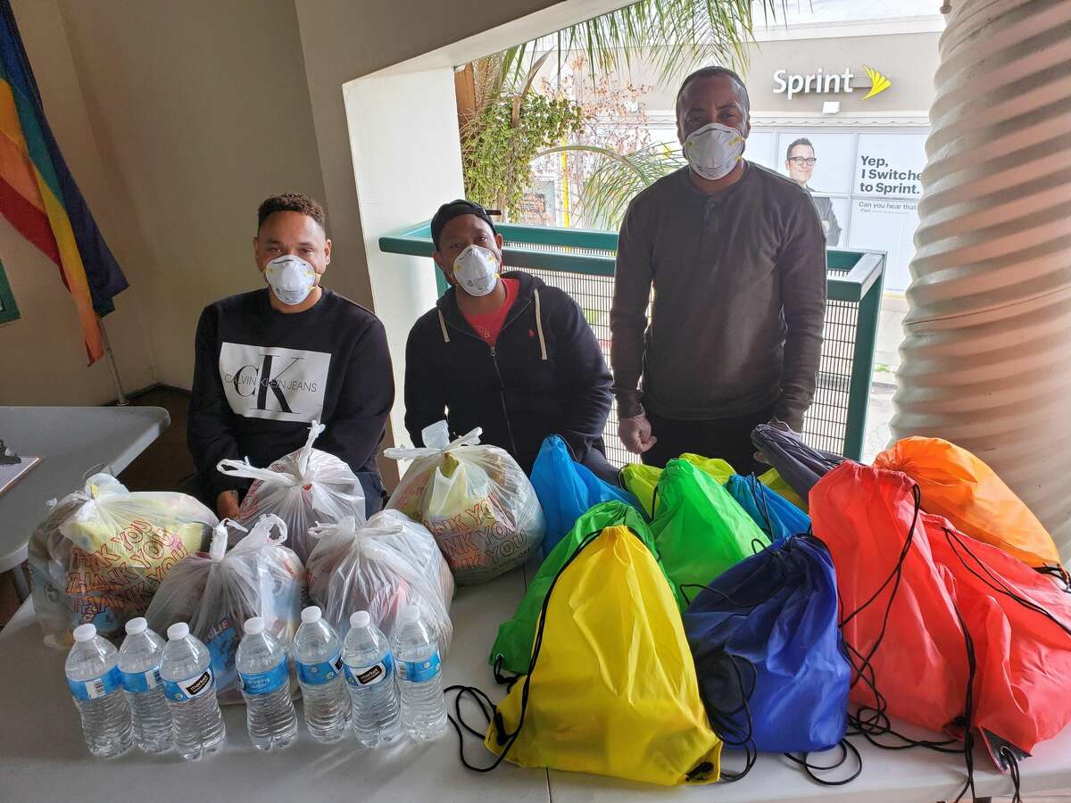 The Oakland LGBTQ Community Center distributes kits of masks, food, and hygiene products.